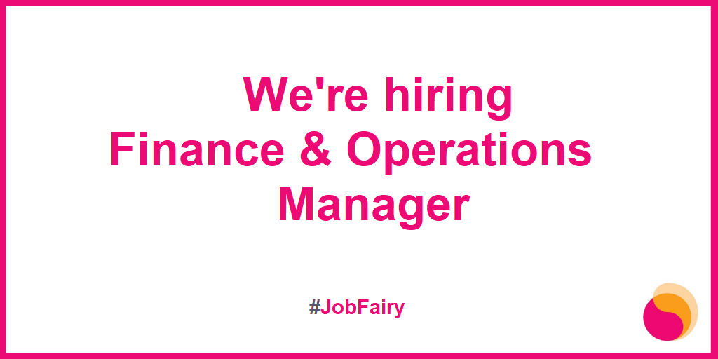 We're hiring: Finance & Operations Manager