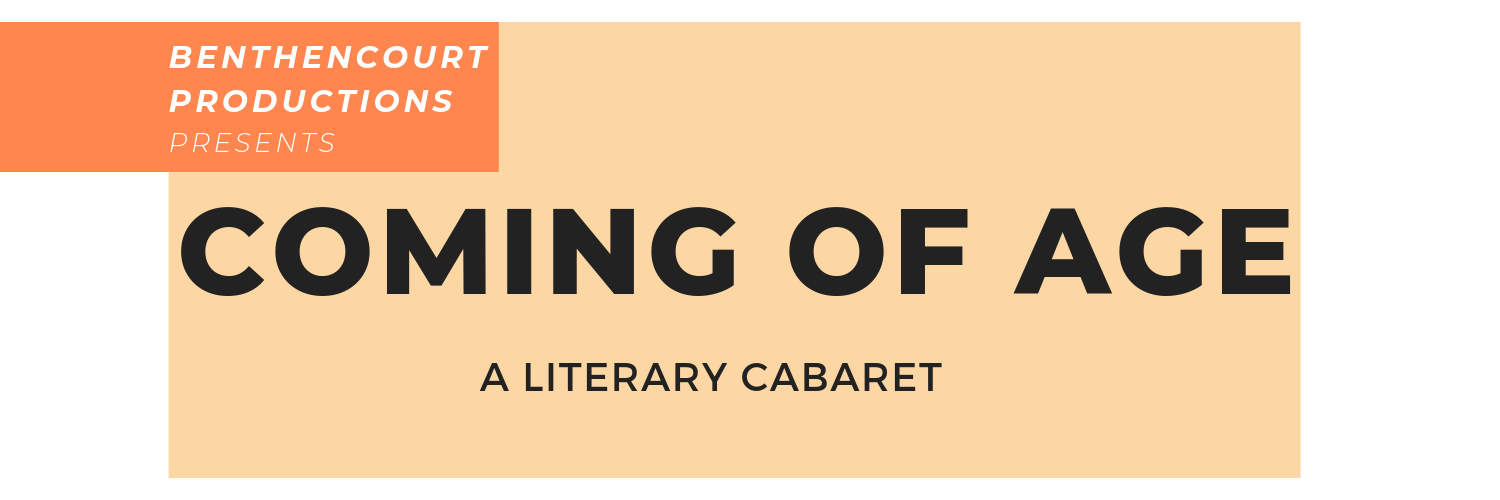 """Coming of Age"", a literary cabaret with Paul Lynch"